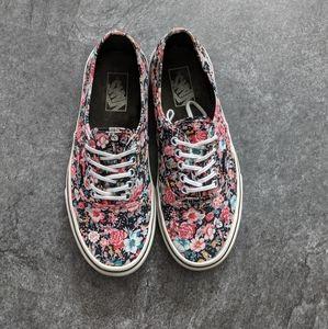 Vans unisex classic canvas skater shoes floral